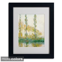 Claude Monet 'The Three Trees Autumn' Framed Matted Art