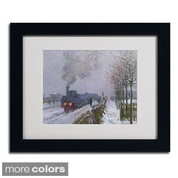 Claude Monet 'Train In the Snow' Framed Matted Art