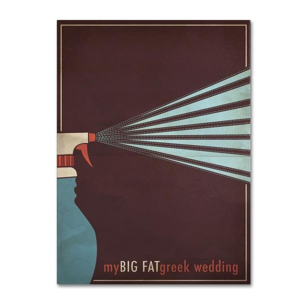 Megan Romo 'My Big Fat Green Wedding' Canvas Art 11410034