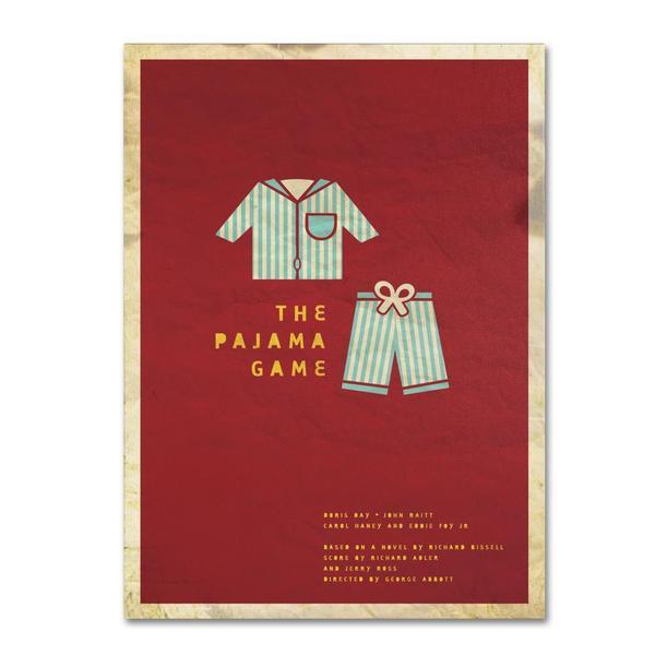 Megan Romo 'The Pajama Game' Canvas Art