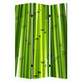 Bamboo 3-Panel Canvas Screen