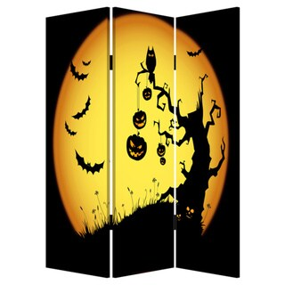 Halloween 3-Panel Canvas Screen