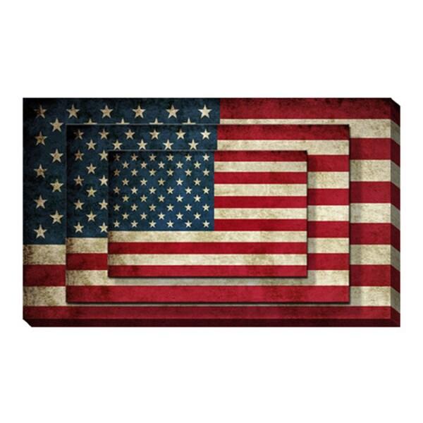 'American Flag' Canvas Print Wall Art