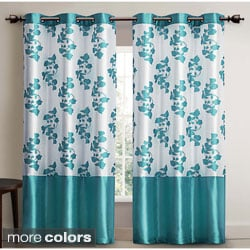 Serafina Faux Silk 84-inch Curtain Panel Pair