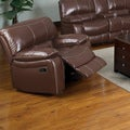 Jojo Classic Brown Bonded Leather Glider Recliner Chair