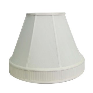 Round Pleated Bottom Off-white Silk Shade