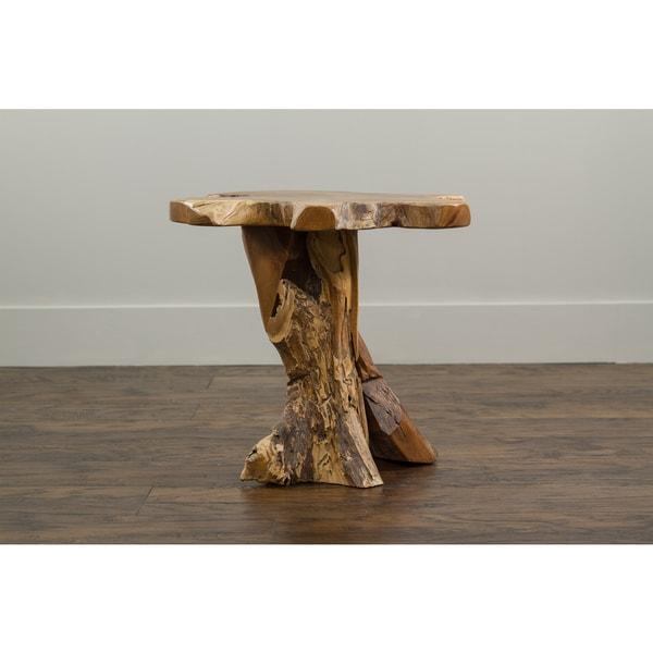 Decorative Tan Rustic Transitional Natura Freeform Coffee Table