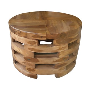 Open Slat Wooden Coffee Table