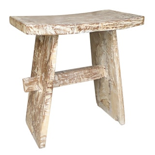 Decorative Rustic Transitional Natura Japanese White Wash Chair