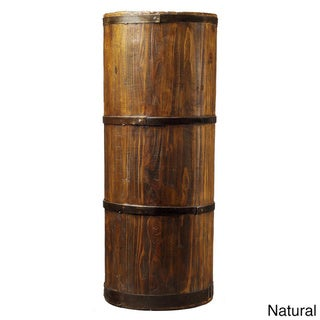 High Wooden Barrel