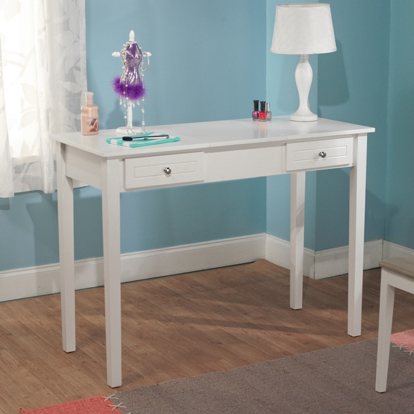 simple living aubrey wooden vanity desk 15513025