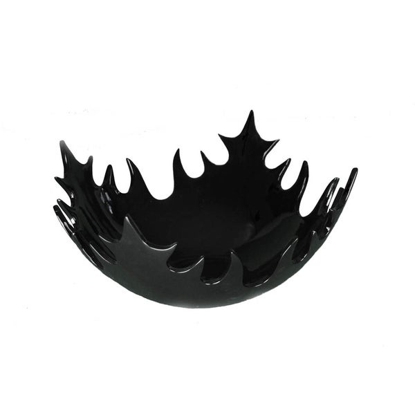 Large Black Decorative Bowl