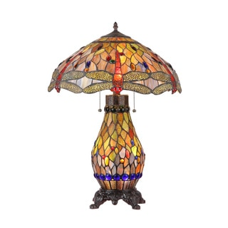 Tiffany Dradonfly Design 4-light Table Lamp