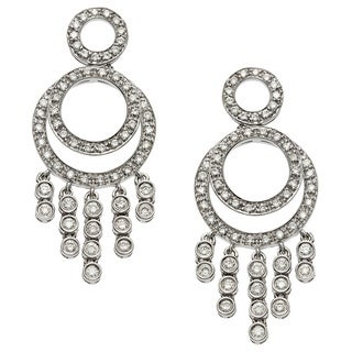 18k White Gold 1 1/5ct TDW Diamond Chandelier Earrings (G-H, SI1-SI2)