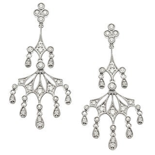 18k White Gold 7/8ct TDW Diamond Chandelier Earrings (G-H, VS1-VS2)