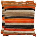 Safavieh Cowhide Quinn 22-inch Orange/ Tan Feather/ Down Decorative Pillows (Set of 2)