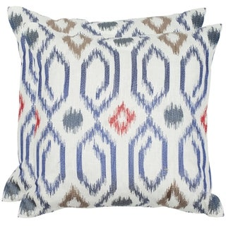 Safavieh Ashton 18-inch Navy Feather/ Down Decorative Pillows (Set of 2)
