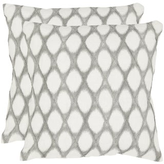 Safavieh Kendell 18-inch Grey Feather/ Down Decorative Pillows (Set of 2)