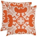 Safavieh Collette 18-inch Orange Decorative Pillows (Set of 2)