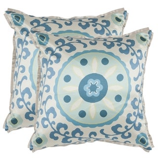 Safavieh Frida 18-inch Blue Decorative Pillows (Set of 2)