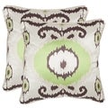 Safavieh Giselle 18-inch Lime Green Decorative Pillows (Set of 2)