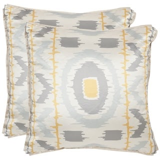 Safavieh Walton 18-inch Gold/ Grey Decorative Pillows (Set of 2)