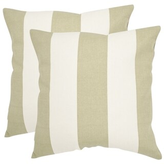 Safavieh Sally 18-inch Sage/ Green Feather Decorative Pillows (Set of 2)