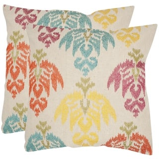 Safavieh Dina 18-inch Feather Decorative Pillows (Set of 2)