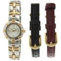 Pierre Jacquard ST2 Women's Two-tone Interchangeable Strap Watch