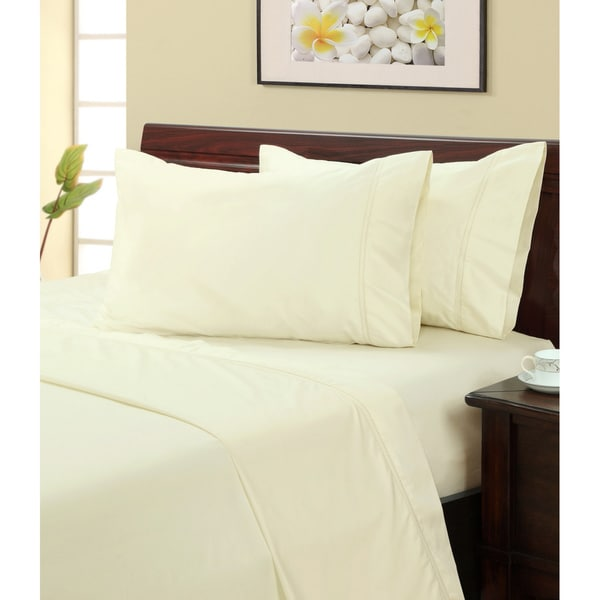 Ivory 500 Thread Count Hemstitch Sheet Set