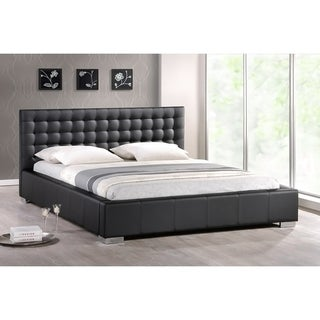 Baxton Studio Madison Full-size Black Modern Bed with Upholstered Headboard
