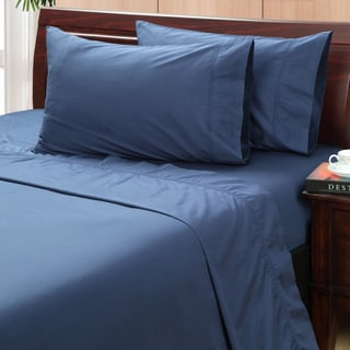 Vintage Indigo 500 Thread Count Hemstitch Sheet Set