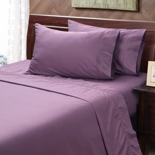 Black Plum 500 Thread Count Hemstitch Sheet Set
