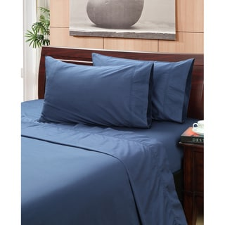 Vintage Indigo 400 Thread Count Hemstitch Sheet Set