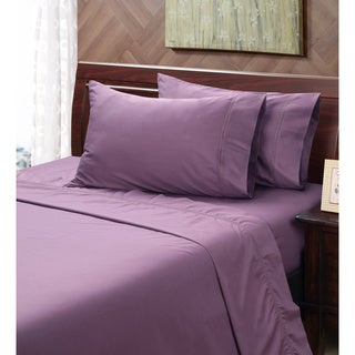 Black Plum 400 Thread Count Hemstitch Sheet Set