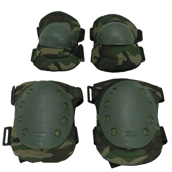 Camouflage Knee/ Elbow Pad Set