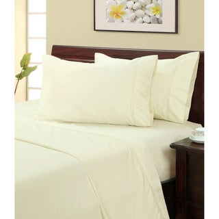 Ivory 400 Thread Count Hemstitch Sheet Set