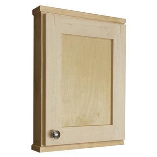 Shaker Series 18-inch Natural Finish 2.5-inch Deep Inside On The Wall Cabinet