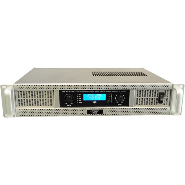 "Pyle 19"" Rack Mount 5000 Watts Professional Digital Power Amplifier w/SMT Technology"