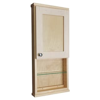Shaker Series 36-inch Natural Finish 2.5-inch Deep Inside 12-inch Open Shelf On The Wall Cabinet