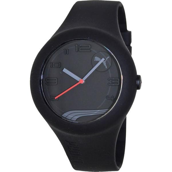 Puma Men's 'Form Xl' Black Silicone Strap Watch