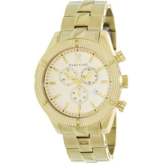 Marc Ecko Men's 'The Saber' Goldtone Stainless Steel Swiss Quartz Watch