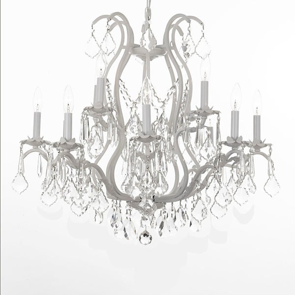 Gallery Versailles White Wrought Iron/ Crystal Chandelier