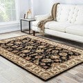 Hand-tufted Traditional Oriental Gray/ Black Rug (9' x 12')