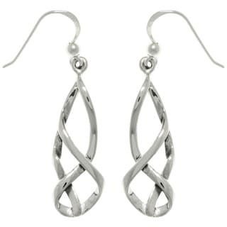 CGC Sterling Silver Celtic Balance Dangle Earrings
