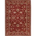Hand-tufted Traditional Oriental Pattern Red/ Orange Rug (9' x 12')