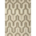 Versatile Handmade Flat-weave Geometric-patterned Gray/ Black Rug (9' x 12')