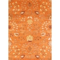 Hand-tufted Transitional Oriental Red/ Orange Rug (5' x 8')