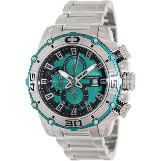 Festina Men's 'Chrono Bike' Green/ Black Chronograph Watch