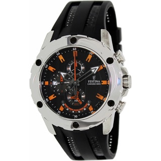 Festina Men's 'Crono' Black/ Orange Chronograph Watch